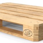 Top Side 3D Render of EPAL stamped Euro Pallet