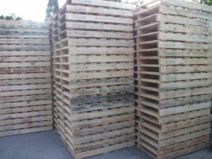 Side angle of New 1 Tonne Standard Pallets in Sydney yard